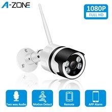 A ZONE 1080P HD IP אלחוטי מצלמה 2.0MP ONVIF עמיד למים אינטרקום חיצוני אבטחת CCTV Bullet מעקבים Wifi