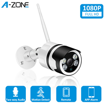 A ZONE 1080P HD Wireless IP Camera 2.0MP ONVIF Waterproof Intercom Outdoor Security Bullet CCTV Surveillance Wifi Camera