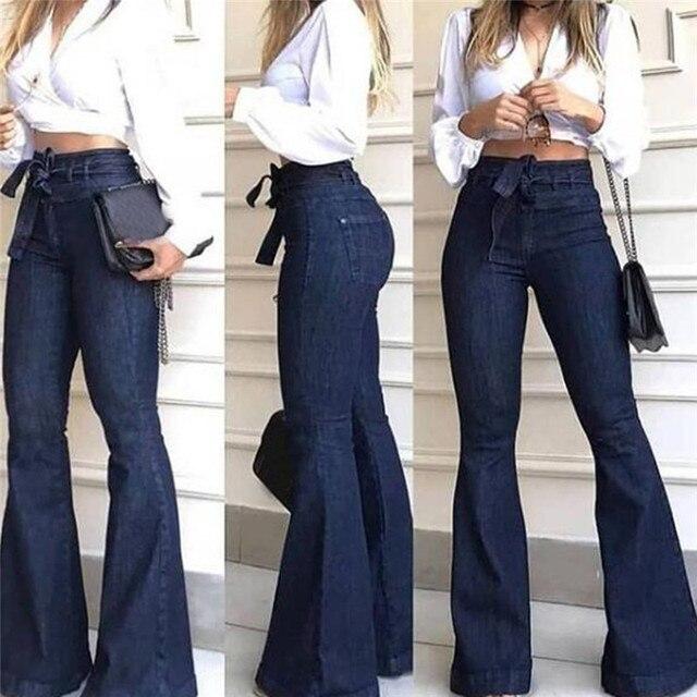 2020 High Waist Wide Leg Jeans Brand Women Boyfriend Jeans Denim Skinny Woman's Vintage Flare Jeans Plus Size 2XL Pant