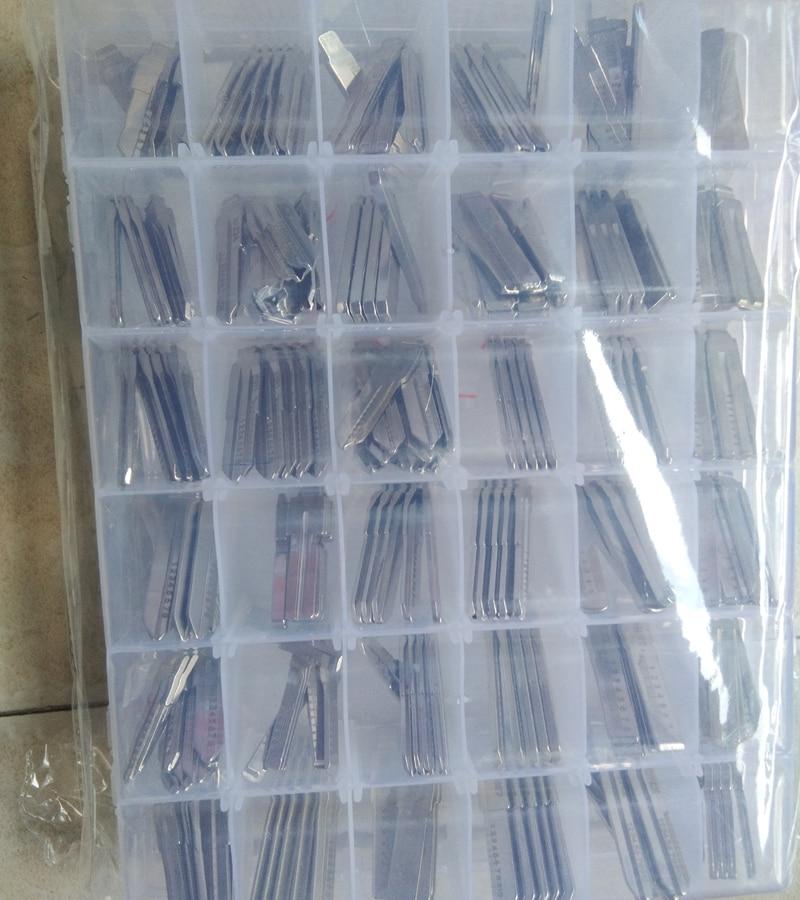 Car key Blank Flip Folding Remote Key Blade Key Embryo For VVDI KD Xhorse keys Locksmith Tool (34 Type Set)