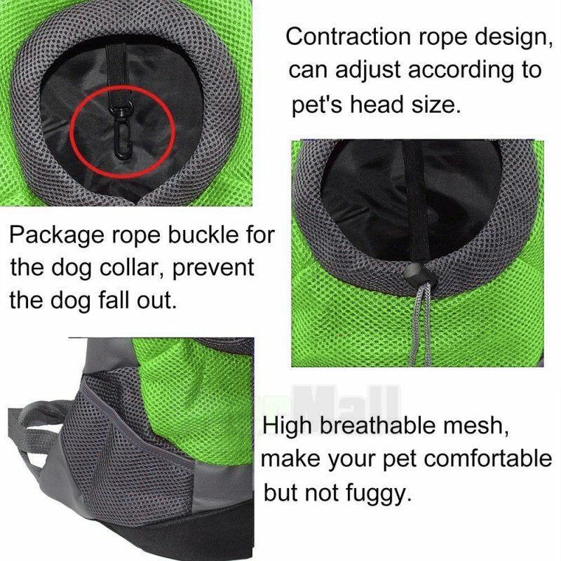 Cushion - 2020 New Pet Carrier Dog Bag Backpack Bleathable Mesh Puppy Shoulder Bag Cat Chest bag