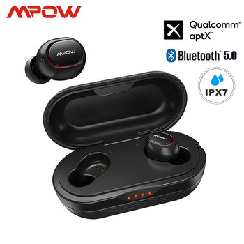 Mpow ipx7 Waterproof T5/M5 Upgraded TWS Earphones Wireless Earbud Bluetooth 5.0 Support Aptx 42h Playing Time For iPhone Samsung