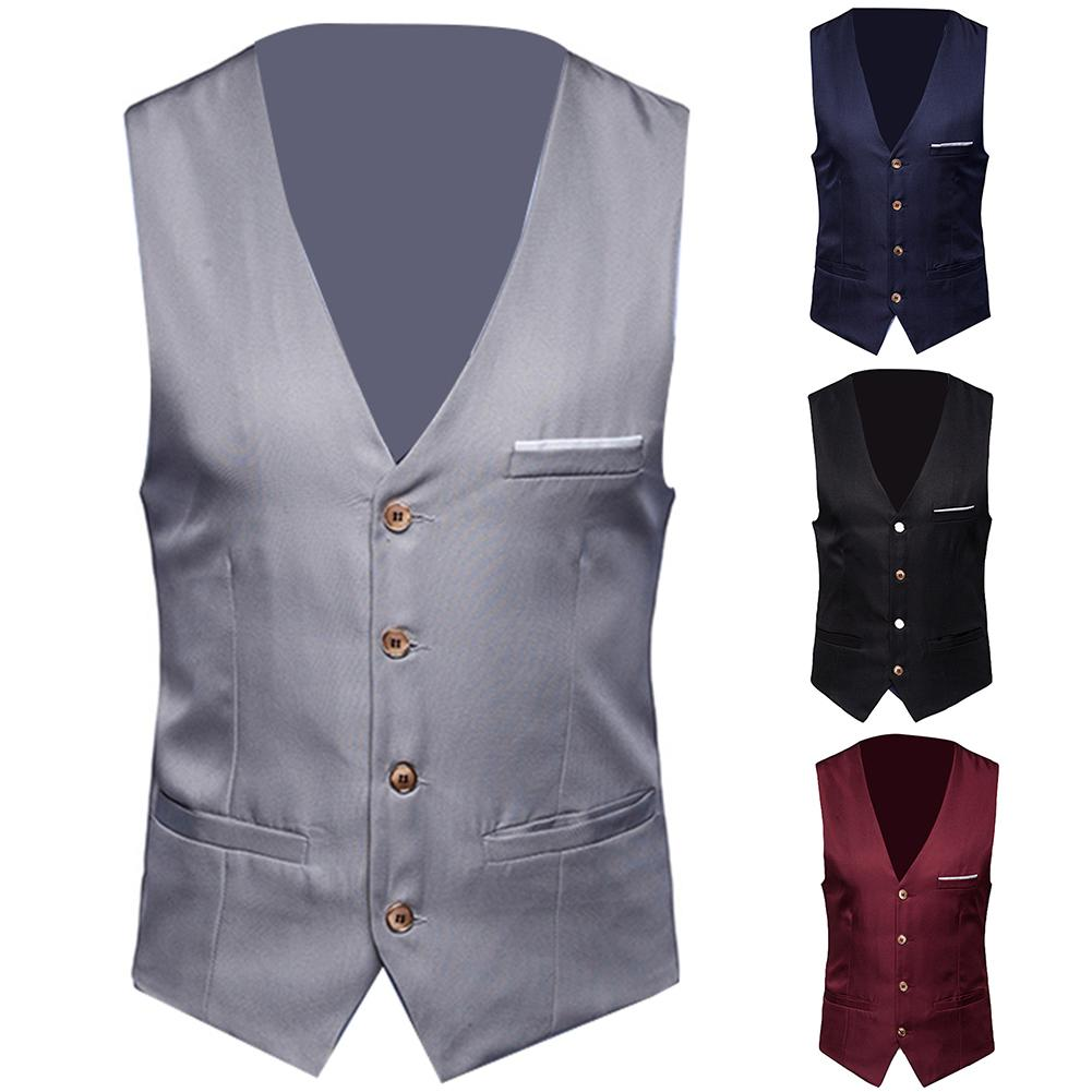 Waistcoat For Men Wedding Vest Men 2019 New Mens Vests Gentleman  Social Mens Vest Party Gilet Square 7895