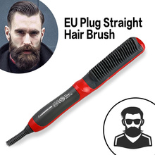 Multifunctional Electric Curler Hair Straightener Brushes Comb Beard straighter Brushes Men Quick Curling Wnd Curly Styling Tool