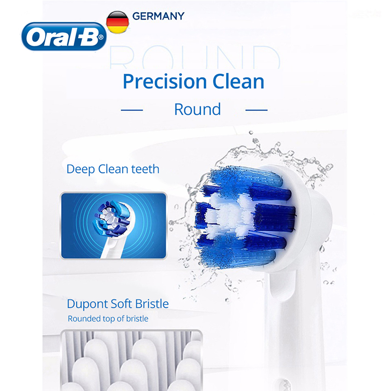 Oral B Vitality Electric Toothbrush Rechargeable 2D Rotating Deep Clean Replacement Brush Head Hygiene Electronic Tooth Brush