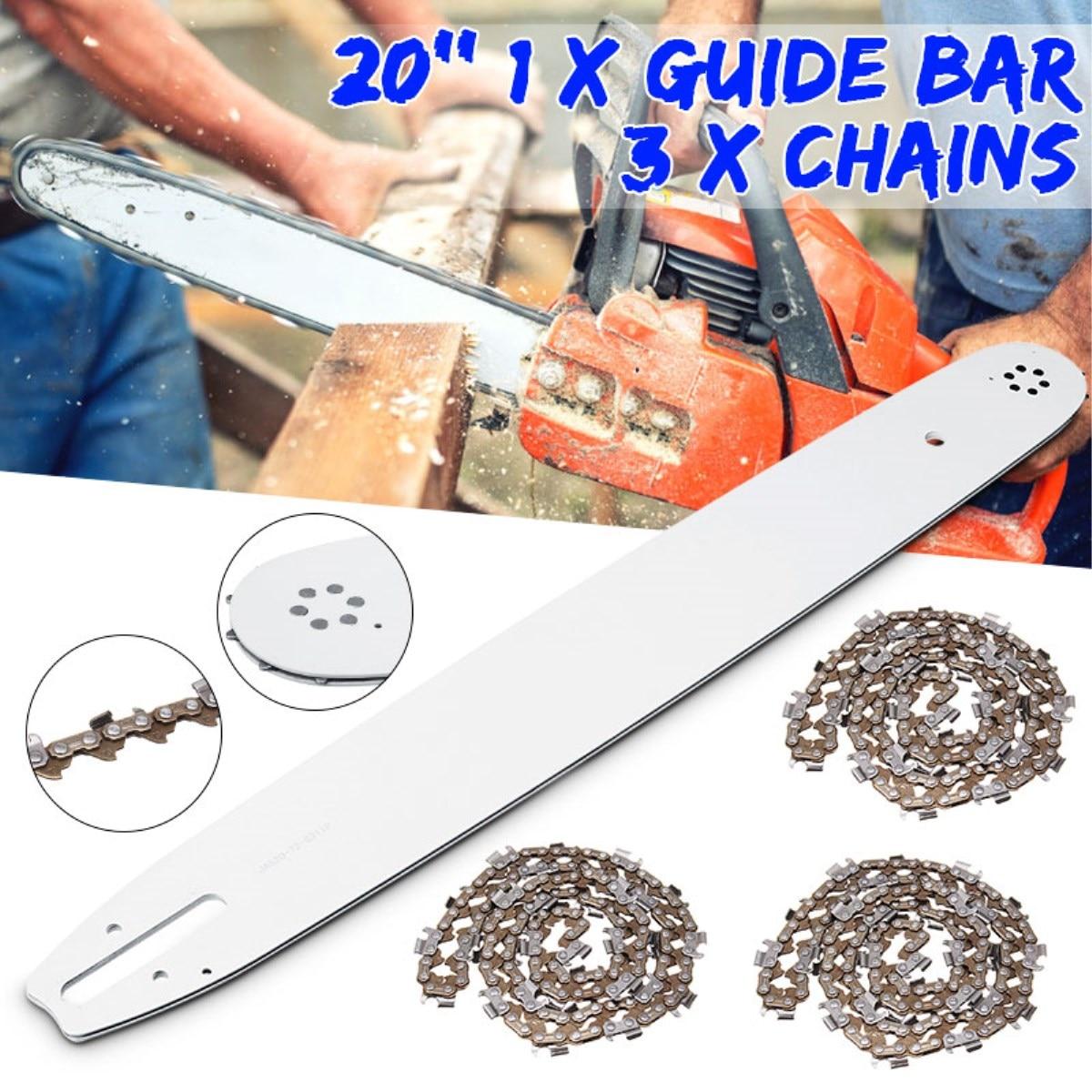 "20"" Guide Bar And 325 058 76DL Chains For Baumr-Ag SX62 SX66 62CC 66CC Chainsaw Chain Saw Accessories(China)"
