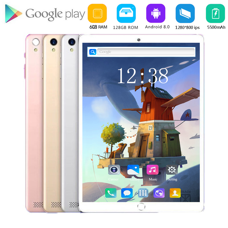 2020 New 10.1 Inch Octa Core 3G/4G Tablet Pc 6GB RAM 128GB ROM 1280*800 Dual Cameras Android 8.0 Tablets KIDS Tablets