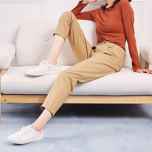 Image 4 - Metersbonwe Casual pantalones harem para las mujeres pantalones, Pantalones de mujer de alta calidad cintura elástica Oficina dama pantalones 753524