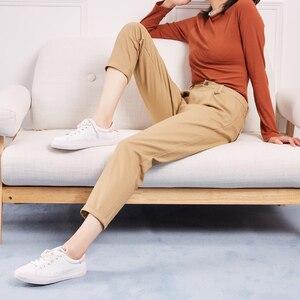 Image 4 - Metersbonwe מזדמן הרמונות מכנסיים לנשים ארוך הרמונות מכנסיים אישה באיכות גבוהה למתוח מותן משרד ליידי מכנסיים 753524