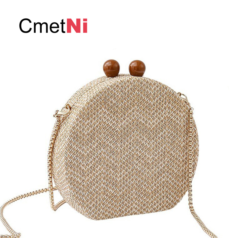 Simple Fashion Lady Crossbody Knit Vintage Acrylic Material Package Dinner Clutch Woven Bag Wallet