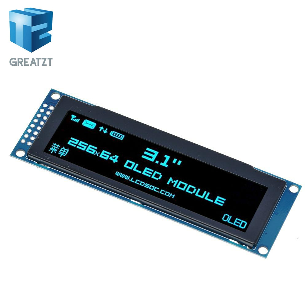"""GREATZT Real OLED Display 3.12"""" 256*64 25664 Dots Graphic LCD Module Display Screen LCM Screen SSD1322 Controller Support SPI"""