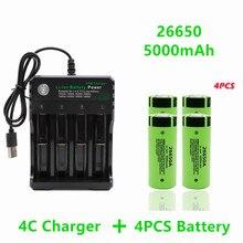 Batterie lithium-ion rechargeable, 26650 mAh, 5000 V, 50a, pour chargeur 26650A + 3.7, haute qualité
