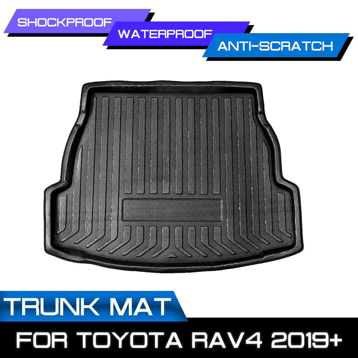 For Toyota RAV4 2019+ Car Rear Trunk Boot Liner Cargo Mat Luggage Tray Floor Carpet Mud Protector Replacement Car Accessories|  - title=