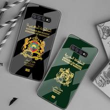 Coat Of Arms of Morocco Flag Passport Phone Case Tempered Glass For Samsung S20 Plus S7 S8 S9 S10 Plus Note 8 9 10 Plus
