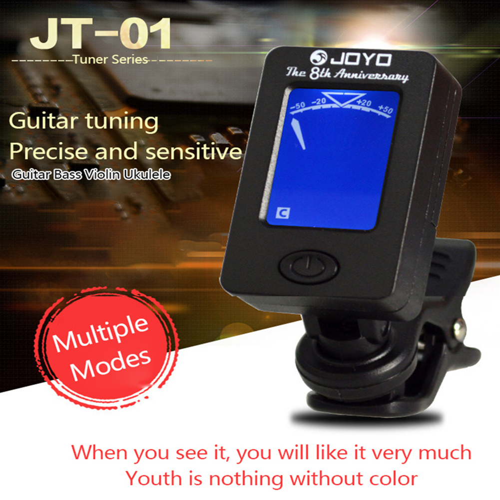 2019 New Acoustic Guitar Tuner Ukulele Violin Bass Tuner Universal Register Musical Instrument Guitar Tuner Accessories -Black