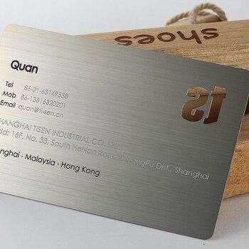 Metal business card stainless steel brushed business card custom hollow metal business card design custom