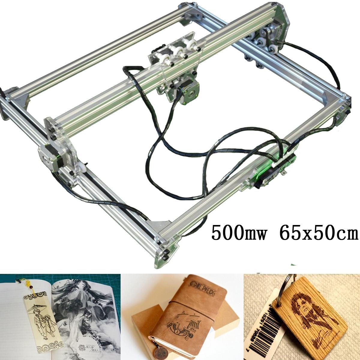 65x50cm 500mw DC 12V Laser Gravur Schneiden Maschine DIY Kupferstecher Desktop CNC 2 Achsen Holz router/Cutter/Drucker für Kennzeichnung Logo
