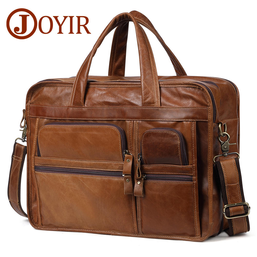 JOYIR Men's Briefcases Genuine Leather 15.6