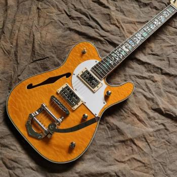 New style jazz electric guitar,F hollow body 6 stings jazz guitarra,rosewood fingerboard.high quality pickup gitaar.real photos new style china custom f hollow body jazz electric guitar sunburst color jazz guitarra vibrato system