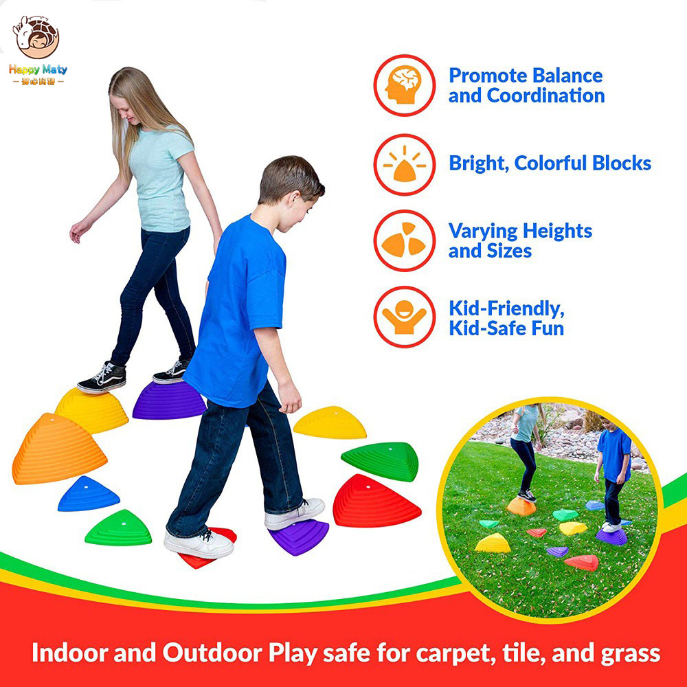 11pcs Children Stepping Stone Cross River Stone Balance Training Toys Single Bridge Kids Indoor Outdoor Toys
