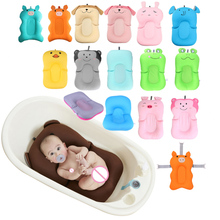 Baby Shower Portable Air Cushion Bed Babies Infant Bath Pad Non-Slip Bathtub Mat Newborn Safety Security Seat Support