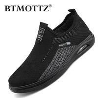 Zapatos informales de malla para Hombre, Zapatillas transpirables para caminar al aire libre, mocasines cómodos sin cordones, de verano