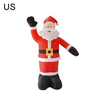 EU/US Electric Inflatable Santa Claus Doll With LED Christmas Ornaments Garden Christmas Decoration For Kid Gift Navidad 2020