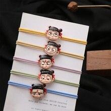 korean 2019 fashion creative personality Nezha hair rope cartoon resin cute elastic rubber band head 5 colors new