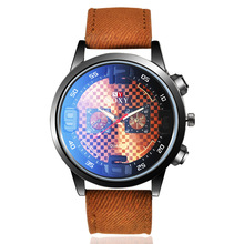 2019 Mens Watches Top Brand Luxury Blue Ray Men Wristwatch Leather Band Mens Analog Quarts Watches Relogio Masculino cheap SOXY Fashion Casual QUARTZ Buckle No waterproof Alloy 24cm 47mm ROUND Quartz Wristwatches None Glass man s watches reloj hombre