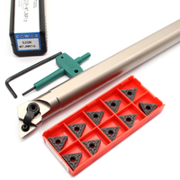 10 pz TNMG160404 TNMG160408 TM PC4125 inserti + 1PC S20R MTJNR16 portautensili per tornitura interna utensili per tornio CNC per acciaio duro