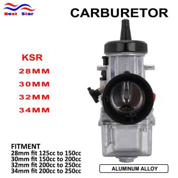 Carburador Universal para KSR 28 30 32 34, Carburador con Power Jet Universal para KTM, Scooter, ATV, Quad Racing, Moto 125cc-250cc