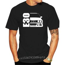 New Men nigikala T Shirts O-Neck Tops Tee Shirts Retro Classic Germany E30 Car Inspired Dad T Shirt Tee Shirts