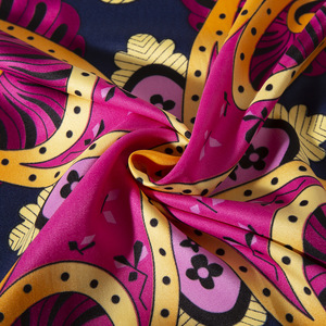 Image 5 - 2020 ビッグスクエアシルクレディース高級ブランドツイルスカーフショール蝶プリント卸売 130*130 センチメートル冬のスカーフの女性