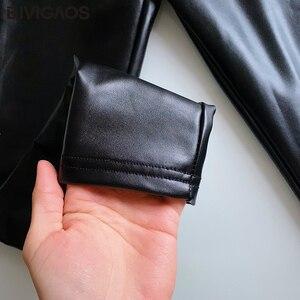 Image 5 - BIVIGAOS Mode Frauen PU Leder Hosen Elastische Hohe Taille Winter Leggings Schlank Samt Leder Leggings Dünne Fleece Hosen