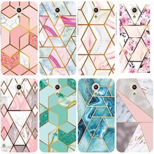 Geometric Marble Soft Phone Case for Vodafone Smart Turbo 7 VFD500 Funda Glossy Colorful Flower Silicone Phone Back Cover Shell(China)