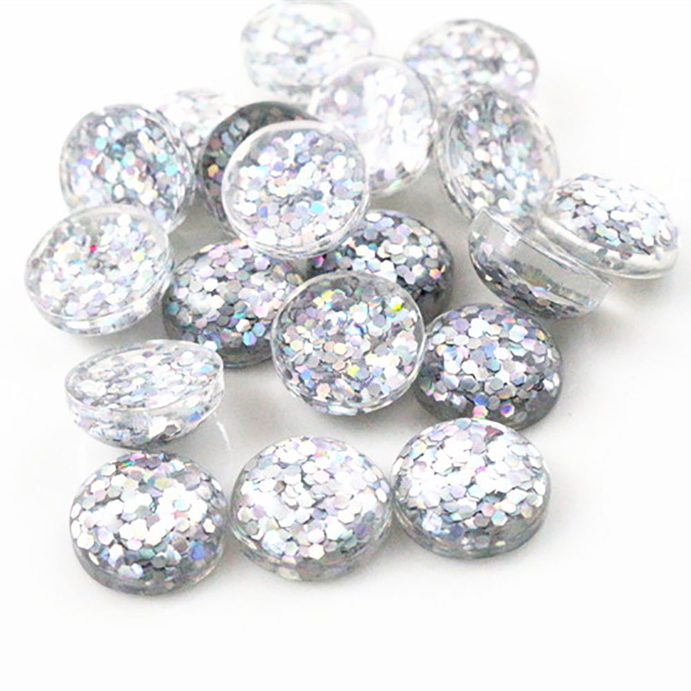New Fashion 40pcs 12mm White AB Color Flat Back Resin Cabochons Cameo  G7-24