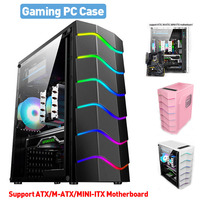 Desktop-Gaming-Computer PC Fall Fan Cooling USB 2,0 Spiel RGB Licht Wirkung Unterstützung ATX/M-ATX/MINI-ITX Motherboard gamer Chassis