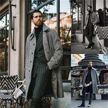 2021 дизайнерское шерстяное пальто мужское повседневное модное