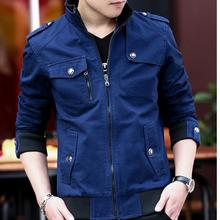 Navy blue Casual Men Jacket Coat Military Male Plus Size Winter Pilot Jackets Fashion Brand Outwear Gentlemen
