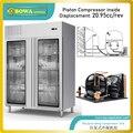 Конденсаторный агрегат с воздушным охлаждением 21cc/rev с обычным возвратно-поступательным компрессором может быть настроен по различным тре...