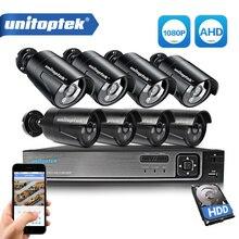3 1 8CH 1080P 보안 AHD DVR NVR CCTV 시스템 2.0MP 3000TVL 비바람에 견디는 야외 카메라 AHD H 비디오 감시 카메라 세트