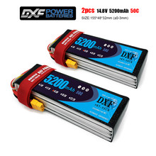 DXF 4S Lipo 14.8V 5200mah 50C-100C Lipo Battery 4S XT60 T Deans XT90 EC5 For FPV Drone Airplane Car Racing Truck Boat RC Parts
