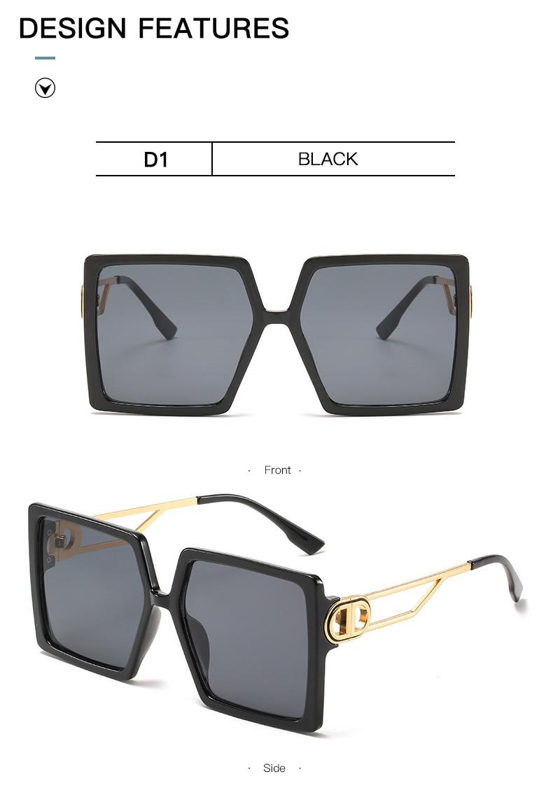 Fashion Sunglass Designer Luxury Brand Square Sunglasses Women Vintage Oversized 2021 trend Female Sun Glasses Shades For Women (9)