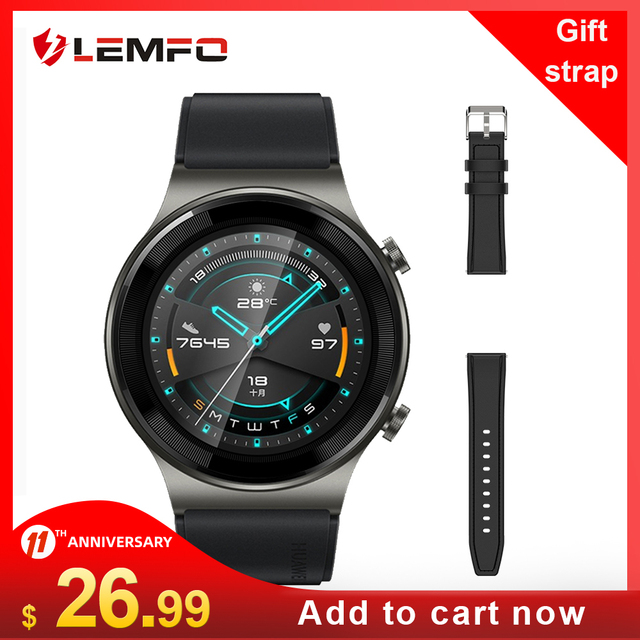 LEMFO Smartwatch 2020 Bluetooth Call GT 2 600mAh 30 Days Standby Time GT2 IPX7 Waterproof Smart Watch Men for huawei Android 1