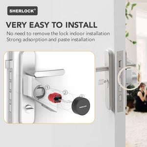 Image 5 - Шерлок S2 умный дверной замок дома замок без ключа отпечатков пальцев + пароль работы электронный замок Беспроводной приложение