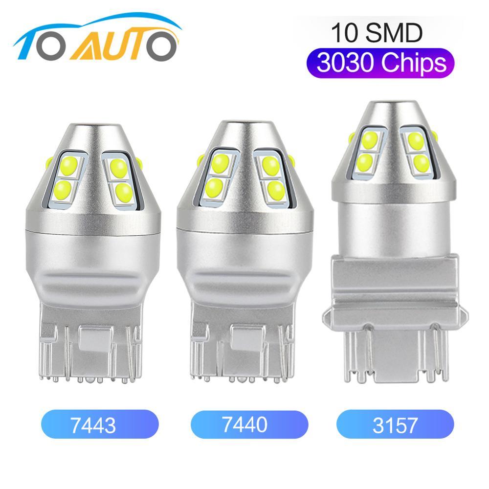 T20 Led 7440 7443 T25 3157 лампа W21W W21/5W WY21W P27 7W Led 3030 чипы авто обратное Резервное копирование DRL лампа автомобильный указатель поворота светильник 12V