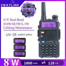 Baofeng UV5R 무전기 10km 사냥 라디오 VHF 송수신기 Baofeng 양방향 라디오 5W/8W 블랙 uv5r 휴대용 라디오 UV 82