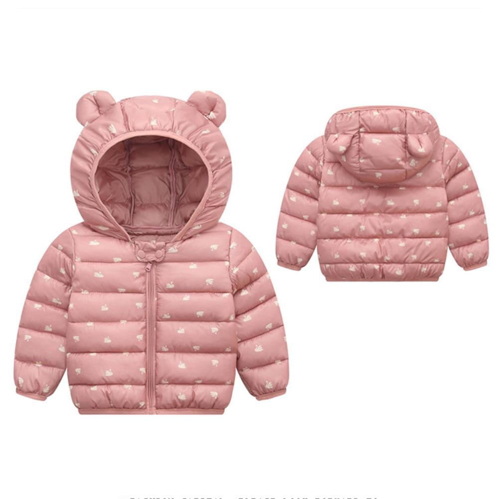 Kids Baby Boy Girl Winter Warm Fur Hooded Padded Coat Jacket Parka Outwear Tops