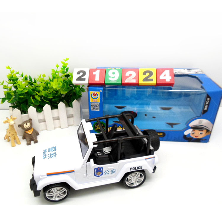 268-4 New Style Electric Flash Model Door Opening Police Car Early Childhood Educational Electric Toy Car