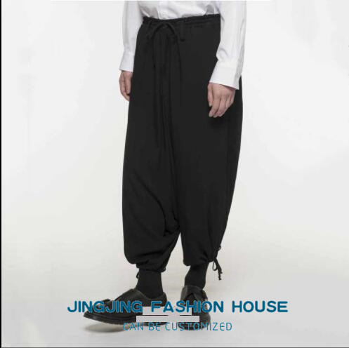 S-6XL!!New style male youth personality harun baggy pants low crotch casual pants men's pants loose nine pants 2